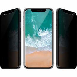 Шпионское яблоко онлайн-Анти-шпион закаленное стекло конфиденциальности протектор экрана для iphone XS Plus X 2018 9 H 2.5 D Case дружественный протектор экрана стекла для Apple