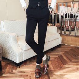138a5891cea5 Korean Dress Pants 2018 Brand Slim Fit Casual Pants Men Streetwear Perfume  Masculino Fashion Formal Wear Business Trousers Men