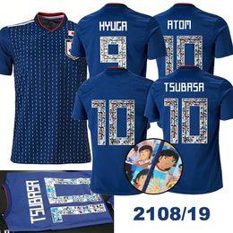 3a78e2170 2018 World Cup Japan soccer jersey ATOM 10 CARTOON NUMBER Japan 18 19  Tsubasa KAGAWA ENDO OKAZAKI NAGATOMO HASEBE KAMAMOTO world cup Shirt