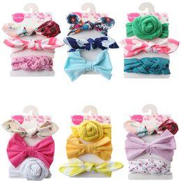 Kore Tarzı Çocuklar Elastik Saç Bandı Sevimli Prenses Ilmek Çiçek Hairband Şapkalar Saç Bandı Kızlar Tavşan Kulak Saç Aksesuarları nereden