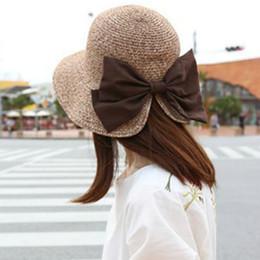 2019 sombreros de paja de primavera Kesebi 2018 Primavera Verano Mujeres  Coreano Bowknot Straw Sun Hat 1cfbfc711f6