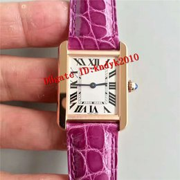 Discount women gold mechanical watches - Top Luxury women watches Automatic Mechanical Sapphire crystal White Dial Roman Numerals Rose Gold Case Purple Leather Strap