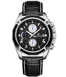 Reloj de cuarzo de los hombres relojes de moda de cuero genuino reloj cronógrafo para hombres suaves hombres estudiantes reloj hombre desde fabricantes