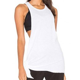 58be76db33bac7 open side shirts Promo Codes - 2018 Fashion Women's Sexy Side Open  Sleeveles Crop Solid vest