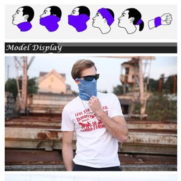 Wholesale Wholesale Biker Caps - Face Mask Scarf Bandana Bike Motorcycle Scarves Neck Face Mask Cycling Biker Headband 8 Colors Multifunctional Mask Face Magic Scarf Caps