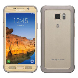 Wholesale Rugged Android - Refurbished Original Samsung Galaxy S7 Active G891A Rugged Phone 5.1 inch Quad Core 4GB RAM 32GB ROM 12MP Camera Android Phone DHL 1pcs