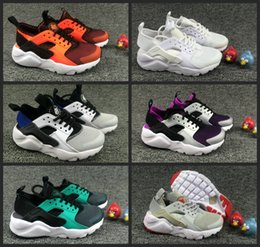 Wholesale kids sports - 2018 Air Huarache Ultra Running Shoes kids sport White Children Huaraches huraches Designer Hurache Casual trainers Running Sneakers 28-35