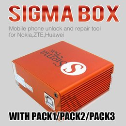 Wholesale Lenovo Unlock - Newest version sigma box with 9 cables with Pack 1 2 3 activation for MTK-based Motorola Alcatel Huawei ZTE and Lenovo free shipping