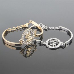 Wholesale Titanium Chain Link Bracelet - Letter Bracelets For Women Bracelets Metal Pendants Heart Charm Braclets Bracelets Jewellry Bangles Gifts Pulsera Titanium Steel Bracele