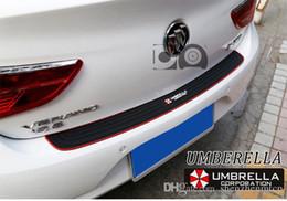 Car Styling Trunk Door Sill Plate Protector de parachoques trasero Protector de goma Molduras Pad Trim Cover Strip Auto Accesorios desde fabricantes
