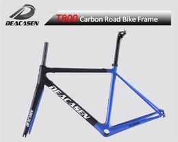 Wholesale Bike Frame 54 - DEACASEN Super light Cheap Di2&mechanical carbon fiber bike frame bicycle frameset BB RIGHT seatpost Aero carbon road frame 48 51 54 56 58cm