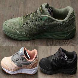 Wholesale Womens Leather Lace Up Boots - Fashion Boots Originals Jazz Shoes Men Ladies Saucony 8000 Jess Lowpro Breathable Womens Shoes Grid Hot Sale Size 40-45