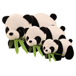 2019 boneca de panda dos desenhos animados Panda bonito Dos Desenhos Animados Com Bebê De Bambu Brinquedos de Pelúcia Infantil Macio Stuffed Animal Plush Doll Toys Kids Presente Toy boneca de panda dos desenhos animados barato