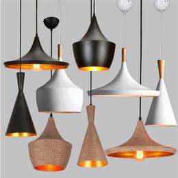Wholesale Retro Restaurants - LED Retro Vintage Industrial Pendant Light Fixtures Design Black White Hanging Lamp Cafe Game Room Restaurant pendant lamps instruments