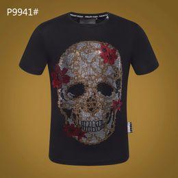 e5ac385fb37 Crâne 2018 t chemises diamant hommes coton t-shirt mode célèbre conception  respirant casual t col rond taille m-3xl Vêtements hommes