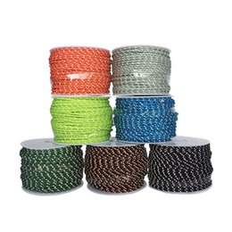 Wholesale parachute tents - 2 .5mm 3 Strand Reflective Paracord Parachute Tent Wind Rope Multifunctional Bold Fixed Rope Clothesline Multipurpose Rope 50m