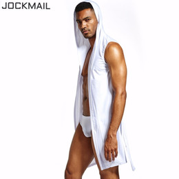 JOCKMAIL Nylon Ice Silk batas de baño para hombres Gay Loungewear batas de baño sexy kimono batas de baño para hombre sexy pijamas ropa de noche desde fabricantes