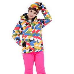 2018 New High Quality Women Ski Suit Female Snow Jacket And Pants Windproof Waterproof Colorful Clothes Snowboard Winter Dress от