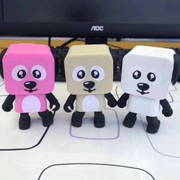 Wholesale Electronic Toy Robots - 2017 New Bluetooth Speakers Portable Mini Electronic Dancing Dog Robot Toy Wireless Stereo Speakers For xiaomi samsung huawei apple phone