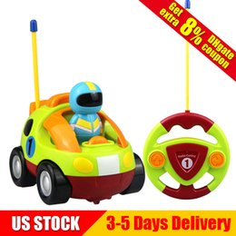 Wholesale car race for kids - RC Cartoon Race Car with Music and Lights Electric Radio Control Toy for Baby Toddlers Kids US STOCK