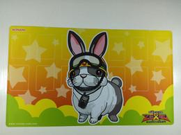 2019 coniglio di stuoia Il coniglio Yugioh Tovagliolo CARDS Stuoia per tovaglia Sacchetto di carta per imballaggio in omaggio coniglio di stuoia economici