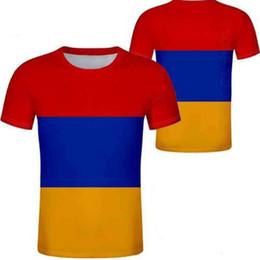 2019 сделать фото черный белый Армения футболка бесплатно на заказ имя номер фото белый серый красный черный тройники рука страна футболка Армянский национальный флаг am одежда скидка сделать фото черный белый