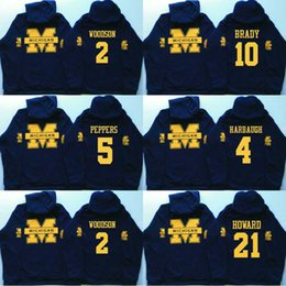 2021 harbaugh trikots Männer Michigan Wolverines Coollege Jersey 5 Jabrill Peppers 4 Jim Harbaugh 10 Brady 2 Charles Woodson 21 Howard Jerseys Hoodies Sweatshirts