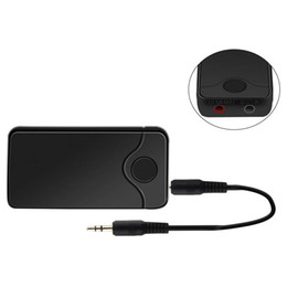 Wholesale Bluetooth Receiver Laptop - B18 Wireless Stereo Audio Receiver AUX 3.5mm Music MTK Bluetooth 2-in-1 Transmitter Receiver Adapter For Mobile Phones Laptop 2018 New