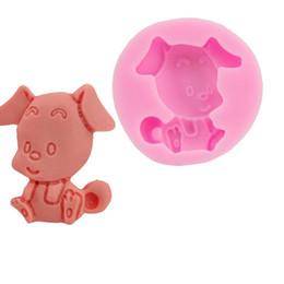 molde de chocolate para cães Desconto DIY Handmade Soap moldes de silicone Pudim Calor Mold Resistindo cão-de-rosa Forma Bolo Mold Baking Ferramenta 5 2SK C R