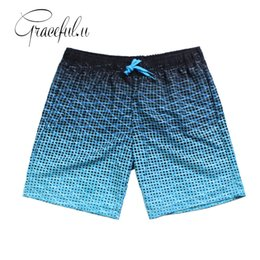 Wholesale Boxer Swim - Pocket Printed Quick Dry Swimsuit Men Swimwear Shorts Swimming Trunks For Bathing Surf Boxer Briefs Bathing Beach Wear Xxl