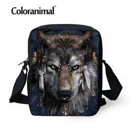 52fdc2932a Coloranimal Brand Designer Small Cross Body Bags for Ladies Wolf Printing Messenger  Bags for Men Women Hot Mens Travel 2018