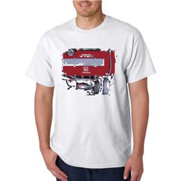 Wholesale honda civic engines - Honda Civic Type R Racing Engine Distress Paint Style Logo New T-Shirt