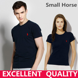 Wholesale 5xl Funny T Shirts - Casual t shirt brand men Small Horse Embroidery tops funny Short sleeve t-shirt men 100% Cotton tee shirt mens t shirts fashion Summer
