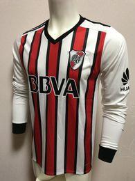 Wholesale Rivers Red - 2018 River Plate 3rd Away Soccer Jerseys Soccer Jersey Long Sleeve Best Quality Sanchez Rodrigo Mora Soccer Jersey Jerseys Football Jersey