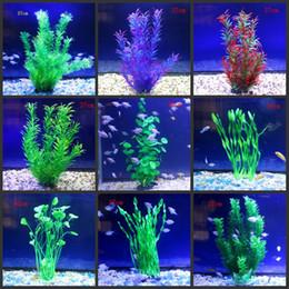 decorazione del serbatoio dei pesci trasporto libero Sconti 2018 NUOVO Simulazione piante acquatiche Sottomarino Ornamento Artificiale Verde Underwater Fish Tank Aquarium Decor spedizione gratuita