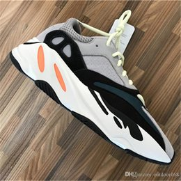 Wholesale Flat Leather Shoe - 2018 Kanye West 700 Boost Best Quality Classic Running Shoes With Wave Runner 700 Boosts Sports Shoes Fashion Sneaker With Box