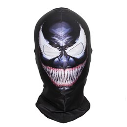berretti di riserva Sconti SzBlaZe Brand New Supper Hero Venom Maschera Balaclava Halloween Full Face Classic Cosplay Calza maschera Gioco di Guerra Skullies Berretti