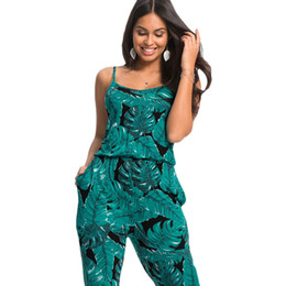 ee4120b4051 2017 Summer Elegant Womens Rompers Jumpsuit Casual Floral Print Bodysuit  Sleeveless O Neck Long Playsuits Plus Size
