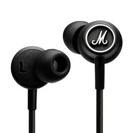 écouteurs écouteurs Promotion Marshall MODE Casque Dans L'oreille Casque Noir Écouteurs Avec Micro HiFi Oreillettes Écouteurs Universel Pour Téléphones Mobiles Drop Ship