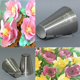Wholesale Ice Mold Pipe - Cake Fondant Pastry Icing Cream Decorating Piping Nozzles Tips Mold Flower Cupcake Decoration Chocolate Metal Tools Moulds