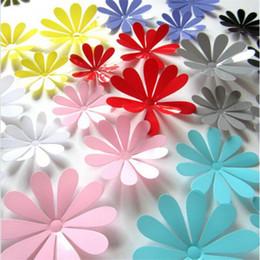 tuiles de son Promotion Coloré Fleur Floral Stickers Muraux Pour La Décoration Intérieure BRICOLAGE Personnalité Murale Enfant Chambre Pépinière Décoration Impression Affiche papier peint