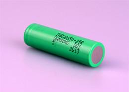 bateria ecig recarregável Desconto Bateria das baterias 2500mah 18650INR 25R M 18650 com relatório da bateria de lítio MSDS - baterias recarregáveis de 2500mah 20A para 18650 Ecig