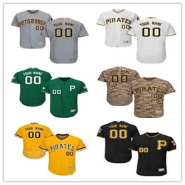 Wholesale S Pirate - custom Men's women youth Majestic Pittsburgh Jersey #00 Your name and your number Red Blue Grey White Kids Girls Pirate Baseball Jerseys