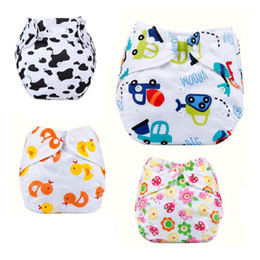 Wholesale Wholesale Newborn Cloth Diapers - Wholesale-12 Colors 2016 Newborn Baby Bounce Diapers Spring Cloth Cartoon Training Pants Adjustable Diapers Covers Free Shipping