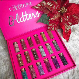 Wholesale Wholesale Long Boxes - Beauty Creations Glitter Powder Beauty Creations Multi-Purpose Loose Glitter Powder 18 Colors Gift Box eyeshadow Eye Shadow DHL