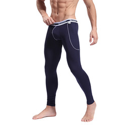 Wholesale Bamboo Shirt Wholesale - Men's Softed Long Johns Thermal Pants Bamboo Fibre Trousers Underwear Size S M L