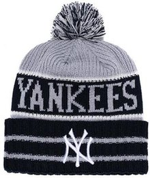New york beanies on-line-2019 Inverno New York Beanie gorros NY Crânio Hat para Homens mulheres De Malha Gorro De Lã Chapéu de Malha Gorro Gorros Cap Boné de Beisebol Do Crânio Quente