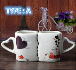 Combinations On Loving Cup Ceramic Color Changing Mug Lovers Kiss Valentine Birthday Gift Cute Couple Cups Will Change