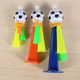 Wholesale hybrid toys - Popular Horn Toy Sports Meeting Cheer Prop Football Trumpet Toys Bugle Activity Articles Gift For Child 1 5pk R C