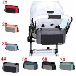 Cochecitos de bebé online-Accesorios del organizador del cochecito de bebé bolsa de carro de bebé para cochecitos pañal pañal madre bolso de la silla de paseo cochecito organizador bolsa colgante KKA6261